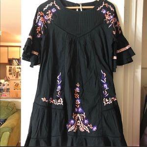 🌼Dress Sale🌼 Black Purple Embroidery Dress sale